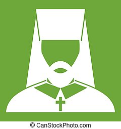 Orthodox priest icon green