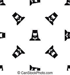 Orthodox priest pattern seamless black