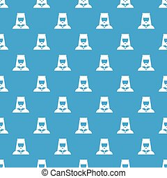 Orthodox priest pattern seamless blue