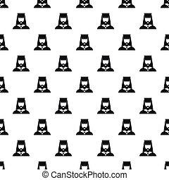 Orthodox priest pattern, simple style