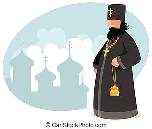 Orthodox priest with censer