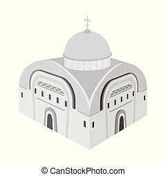 orthodox, symbol, gegenstand, web., freigestellt, sammlung, kirche, icon., kapelle, bestand