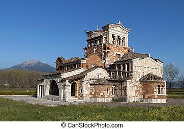 orthodox, tempel, op, griekenland