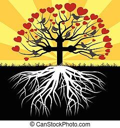 Orthodox tree - Illustration Orthodox tree as a symbol of...