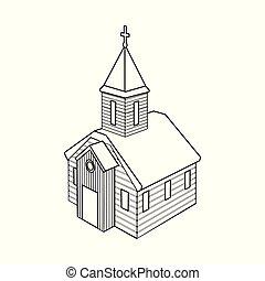orthodox, zeichen., web., sammlung, vektor, abbildung, kirche, kapelle, symbol, bestand