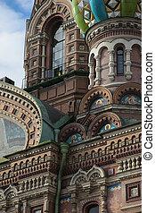 orthodoxe, sauveur, église, blood., saint-petersburg, russie