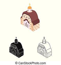 orthodoxe, symbole, objet, web., isolé, collection, église, icon., chapelle, stockage