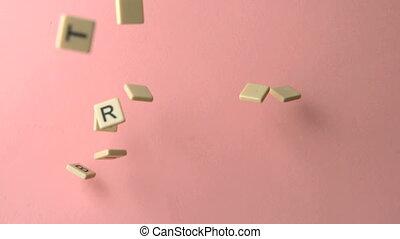 orthographe, birthd, morceaux, lettre, heureux