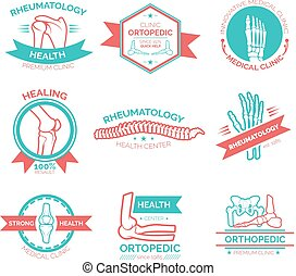 Orthopedic medical and diagnostic clinic symbol