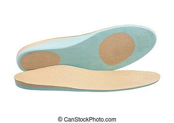 Orthopedic Shoe Insoles - Closeup of a pair of orthopedic ...