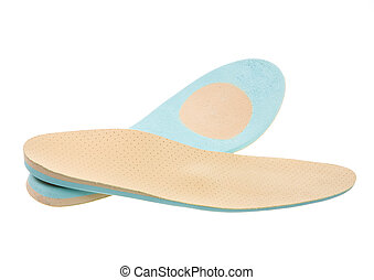Orthopedic Shoe Insoles - Closeup of a pair of orthopedic...