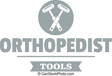 Orthopedic tool logo, simple gray style