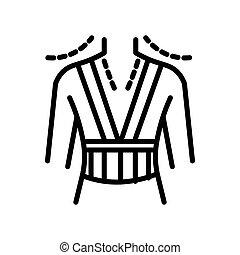 Orthopedics device, corrective orthopedic corset isolated line icon