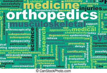 Orthopedics or Orthopaedics Medical Field Specialty As Art