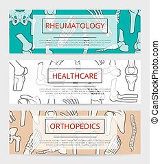 Orthopedics, rheumatology medical banner template