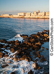 Ortigia coast - Eastern side of Ortigia, the ancient part of...