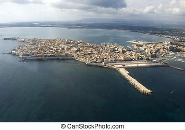 ortigia island in Siracusa - Ortigia island in Siracusa from...