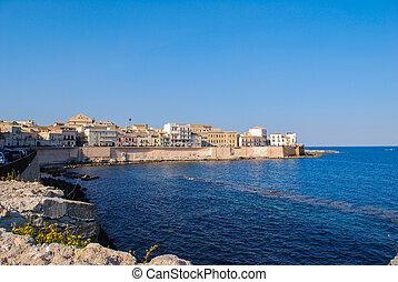 Ortigia island in Syracuse. Sicily