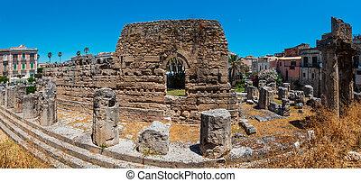 Ortigia, Syracuse, Sicily, Italy. - Ortigia island at city...
