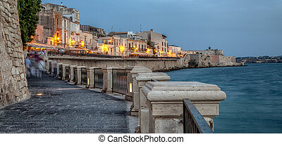 Ortigia waterfront in the city of Syracuse