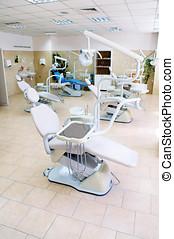 ortodontia, dental, equipamento, clínica, departamento,...