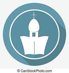 ortodosso, cattedrale, chiesa, bianco, cerchio, con, uno, lungo, uggia
