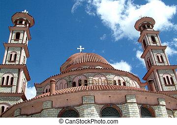 ortodox, albania, korcha, iglesia