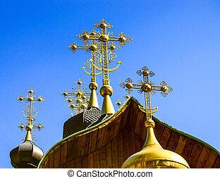 ortodox church crosses