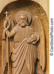 ortodox frescoes,wood carving