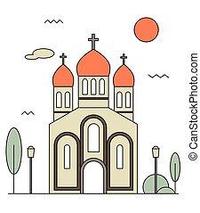 ortodoxo, ícone, igreja