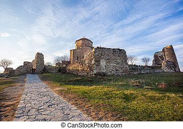 ortodoxo, mosteiro, jvari., 5-6, século, edifício., geórgia,...