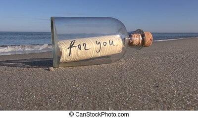 ortografia, wiadomość, butelka, ty