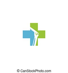 ortopédico, clínica, logotipo