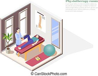 ortopedia, hospitalar, conceito