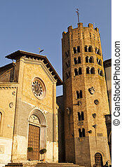 Orvieto Church And Bell Tower - The old Byzantine Church of...