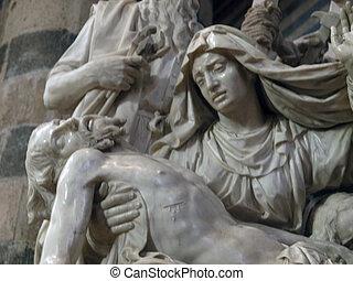 Orvieto - Duomo interior. Pieta was sculptured from a single...