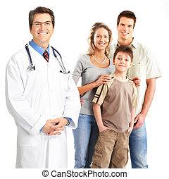 orvos, és, család