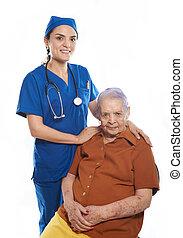 orvos, női, nagyanyó