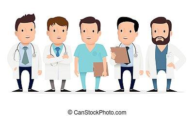 orvos, orvosi, paramedic., munkás