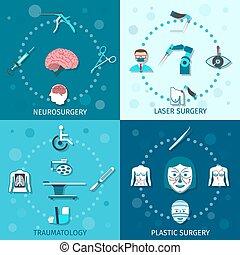 orvosi, állhatatos, sebészet