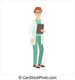 orvosi, ápoló, ember, része, boldog, emberek, és, -eik, fogadalmak, gyűjtés, közül, vektor, betűk