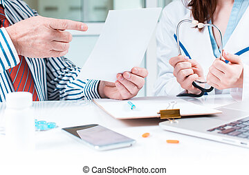 orvosi, övé, türelmes, hivatal, orvos