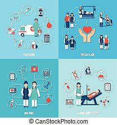 orvosi, alkalmazottak, állhatatos
