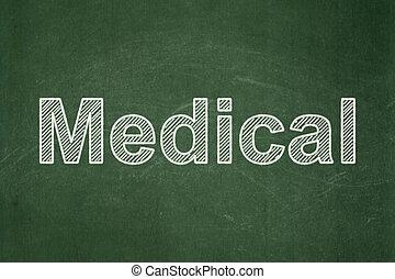 orvosi, concept:, chalkboard, háttér, healthcare