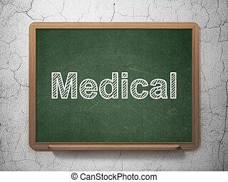 orvosi, concept:, egészség, chalkboard, háttér