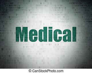 orvosi, dolgozat, háttér, digitális, orvosság, concept: