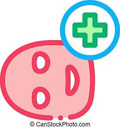orvosi, ikon, ábra, kereszt, maszk, arc, áttekintés