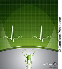 orvosi, zöld háttér