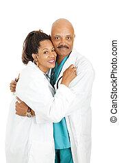 orvosok, birtoklás, hivatal románc