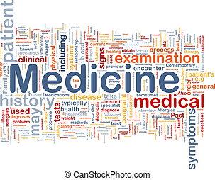 orvosság, egészség, háttér, fogalom